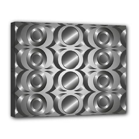 Metal Circle Background Ring Canvas 14  X 11  by BangZart