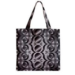 Metal Circle Background Ring Zipper Grocery Tote Bag by BangZart
