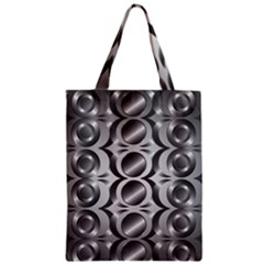 Metal Circle Background Ring Zipper Classic Tote Bag by BangZart