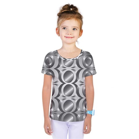 Metal Circle Background Ring Kids  One Piece Tee by BangZart