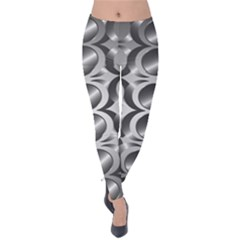 Metal Circle Background Ring Velvet Leggings