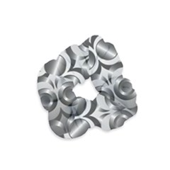 Metal Circle Background Ring Velvet Scrunchie