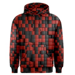 Black Red Tiles Checkerboard Men s Pullover Hoodie by BangZart