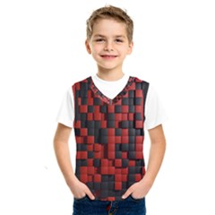 Black Red Tiles Checkerboard Kids  Sportswear