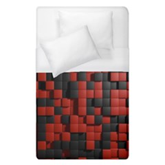 Black Red Tiles Checkerboard Duvet Cover (single Size) by BangZart