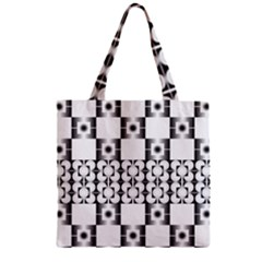 Pattern Background Texture Black Zipper Grocery Tote Bag by BangZart