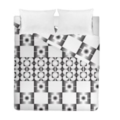Pattern Background Texture Black Duvet Cover Double Side (full/ Double Size)