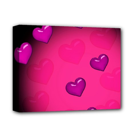 Background Heart Valentine S Day Deluxe Canvas 14  X 11  by BangZart