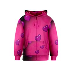 Background Heart Valentine S Day Kids  Zipper Hoodie by BangZart