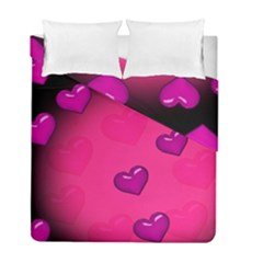 Background Heart Valentine S Day Duvet Cover Double Side (full/ Double Size) by BangZart