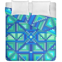 Grid Geometric Pattern Colorful Duvet Cover Double Side (california King Size) by BangZart