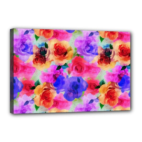 Floral Pattern Background Seamless Canvas 18  X 12  by BangZart
