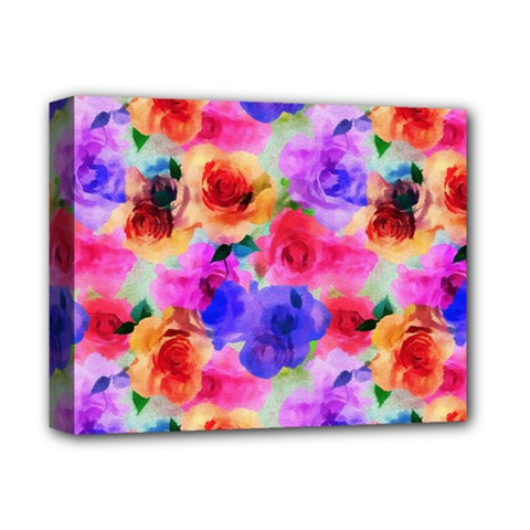 Floral Pattern Background Seamless Deluxe Canvas 14  X 11  by BangZart