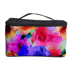 Floral Pattern Background Seamless Cosmetic Storage Case by BangZart