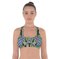 Kaleidoscope Background Cross Back Sports Bra