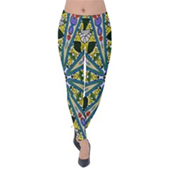 Kaleidoscope Background Velvet Leggings