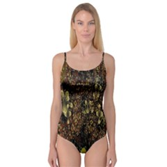 Wallpaper With Fractal Small Flowers Camisole Leotard
