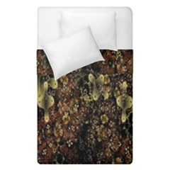 Wallpaper With Fractal Small Flowers Duvet Cover Double Side (single Size)
