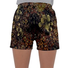 Wallpaper With Fractal Small Flowers Sleepwear Shorts