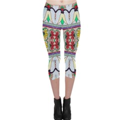 Kaleidoscope Background  Wallpaper Capri Leggings