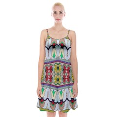 Kaleidoscope Background  Wallpaper Spaghetti Strap Velvet Dress
