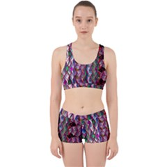 Textured Design Background Pink Wallpaper Of Textured Pattern In Pink Hues Work It Out Sports Bra Set