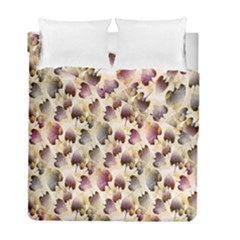 Random Leaves Pattern Background Duvet Cover Double Side (full/ Double Size) by BangZart