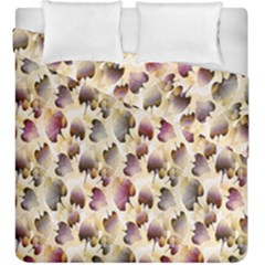 Random Leaves Pattern Background Duvet Cover Double Side (king Size) by BangZart