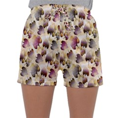 Random Leaves Pattern Background Sleepwear Shorts