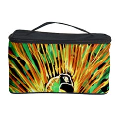 Unusual Peacock Drawn With Flame Lines Cosmetic Storage Case by BangZart