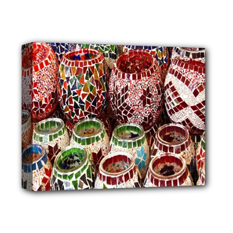 Colorful Oriental Candle Holders For Sale On Local Market Deluxe Canvas 14  X 11