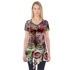 Colorful Oriental Candle Holders For Sale On Local Market Short Sleeve Tunic  by BangZart