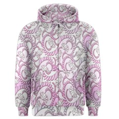 Floral Pattern Background Men s Zipper Hoodie by BangZart