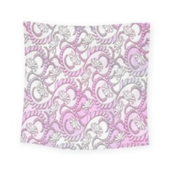 Floral Pattern Background Square Tapestry (small) by BangZart