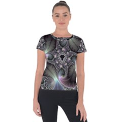 Precious Spiral Short Sleeve Sports Top  by BangZart
