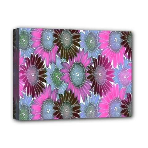 Floral Pattern Background Deluxe Canvas 16  X 12   by BangZart