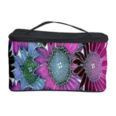 Floral Pattern Background Cosmetic Storage Case by BangZart