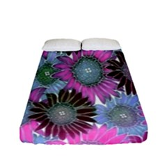 Floral Pattern Background Fitted Sheet (full/ Double Size) by BangZart