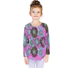Floral Pattern Background Kids  Long Sleeve Tee