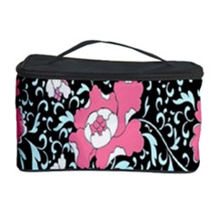 Oriental Style Floral Pattern Background Wallpaper Cosmetic Storage Case by BangZart
