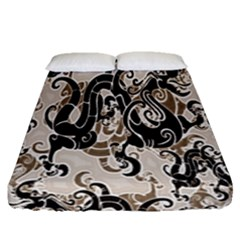 Dragon Pattern Background Fitted Sheet (queen Size) by BangZart