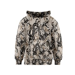 Dragon Pattern Background Kids  Pullover Hoodie