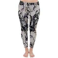 Dragon Pattern Background Classic Winter Leggings