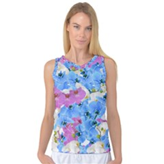 Tulips Floral Pattern Women s Basketball Tank Top by paulaoliveiradesign