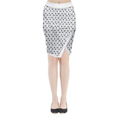 Flying V Electric Guitar Color Picker Print Midi Wrap Pencil Skirt by Brini