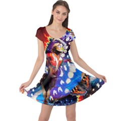 butterfly Brilliance    Cap Sleeve Dress by livingbrushlifestyle