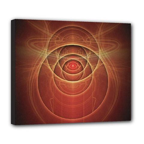 The Rusty Red Fractal Scarab Of Fiery Old Man Ra Deluxe Canvas 24  X 20   by jayaprime