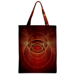 The Rusty Red Fractal Scarab Of Fiery Old Man Ra Zipper Classic Tote Bag by jayaprime