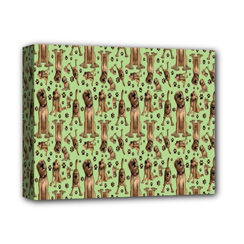 Puppy Dog Pattern Deluxe Canvas 14  X 11  by BangZart