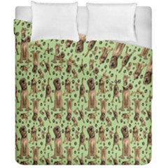Puppy Dog Pattern Duvet Cover Double Side (california King Size) by BangZart